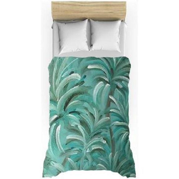 Green Burst Swirl Design - Duvet Covers