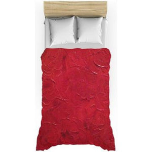Red Passion Swirl Design - Duvet Covers