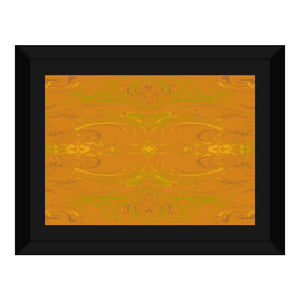 Yellow Glimmer Enhanced Design - Framed Canvas