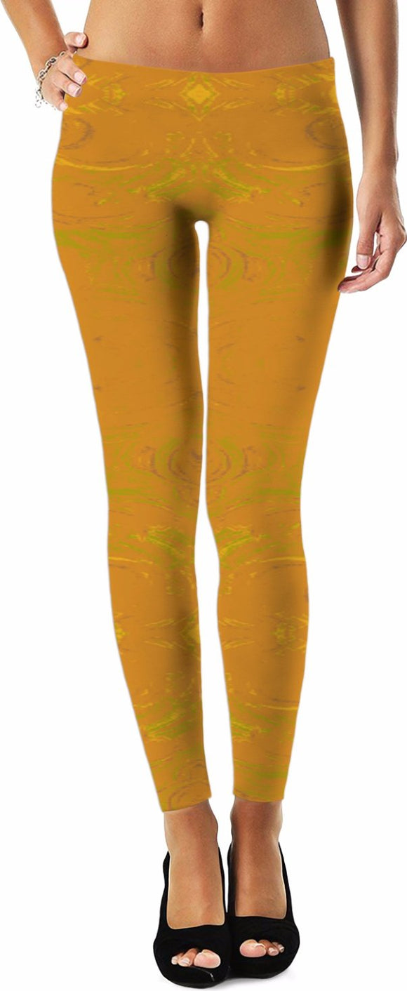 Yellow Glimmer Enhanced Design - Leggings