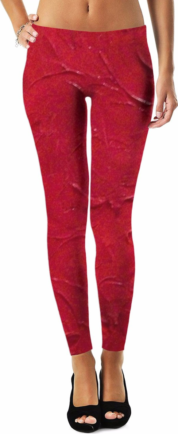 Red Passion Swirl Design - Leggings