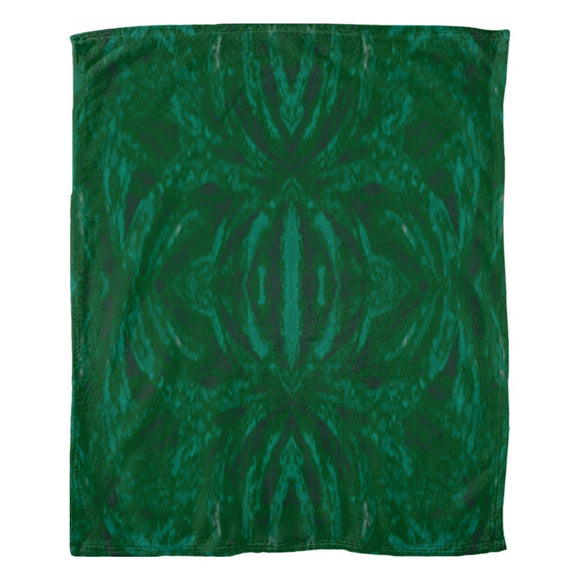 Green Burst Design - Fleece Blankets