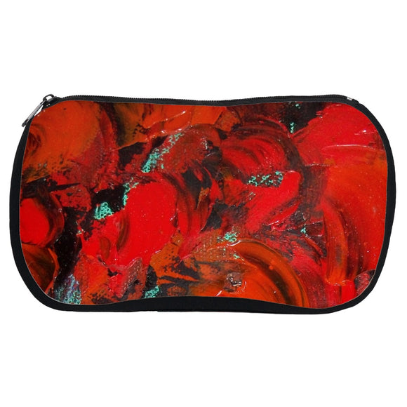 Red Renaissance Swirl Design - Cosmetic Bags
