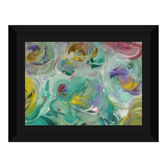 Floral Rhapsody Design - Framed Canvas