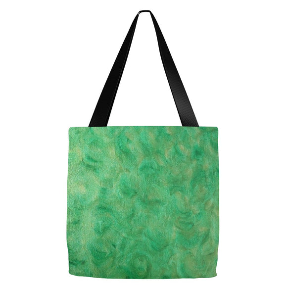 Green Gold Swirl Design - Tote Bags