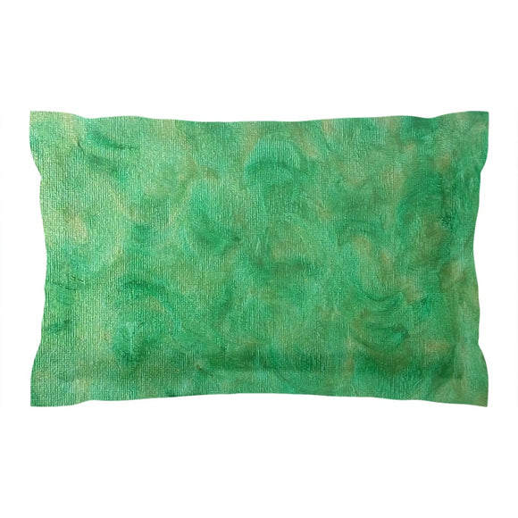Green Gold Swirl Design - Pillow Shams