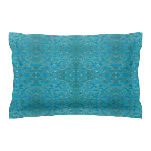 Green Paisley Enhanced Design - Pillow Shams