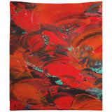 Red Renaissance Swirl Design - Tapestries