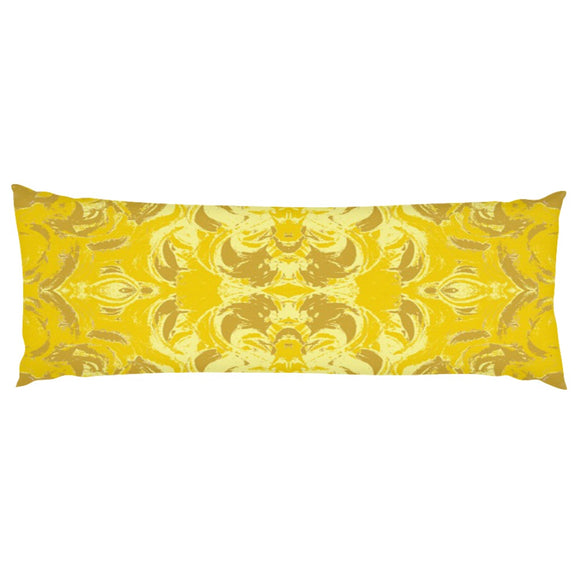 Yellow Glimmer Design - Body Pillows