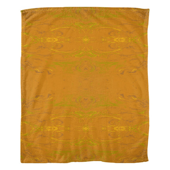 Yellow Glimmer Enhanced Design - Fleece Blankets