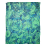 Green Paisley Design - Fleece Blankets