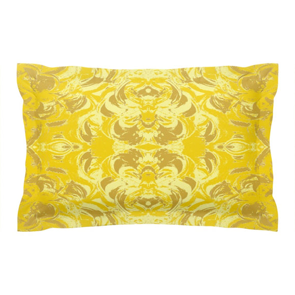 Yellow Glimmer Design - Pillow Shams