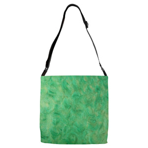Green Gold Swirl Design - Adjustable Strap Totes