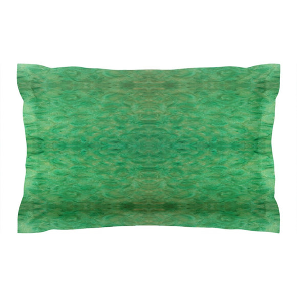 Green Gold Design - Pillow Shams