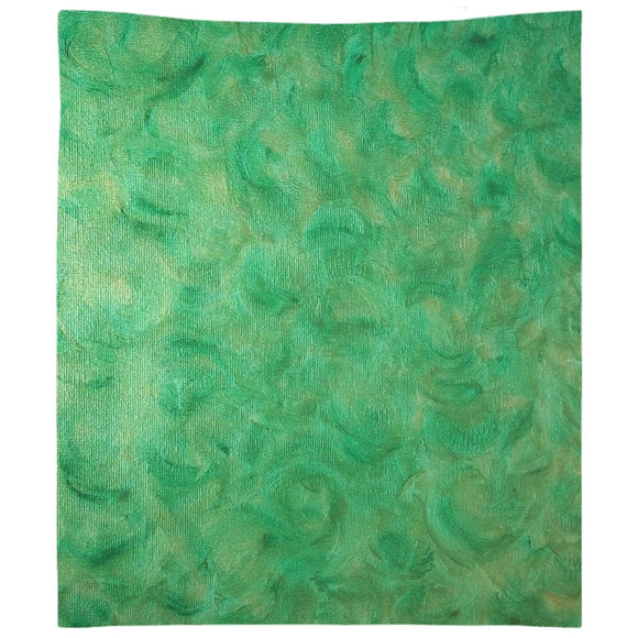 Green Gold Swirl Design - Tapestries