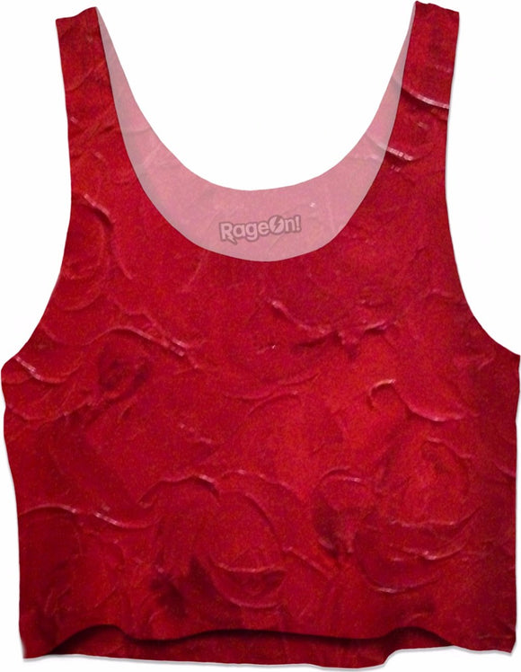 Red Passion Swirl Design - Crop Tops