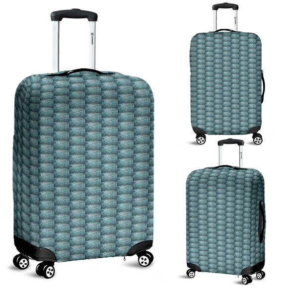 Blue Swirl Bubble Design - Luggage Covers
