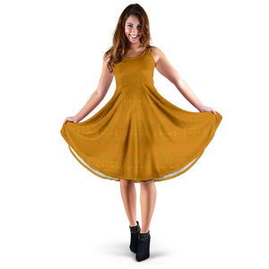 Yellow Glimmer Enhanced Design - Women's Dresses