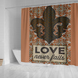Love Never Fails Design - Shower Curtains