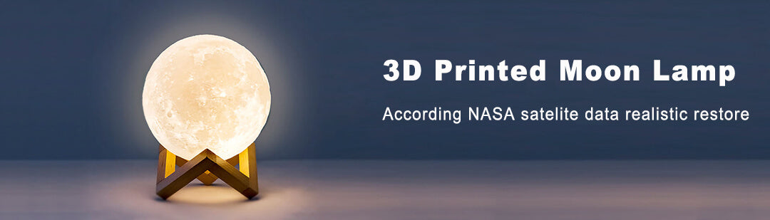3D printing moon lamp gifts banner