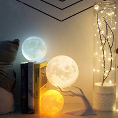 3D printing moon lamp for home decor