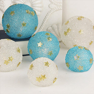 Candlelit Textured Glass Spheres