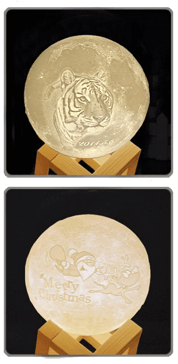 Customize Christmas moon lamp gifts