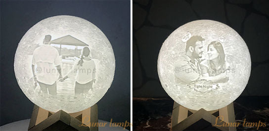 Customized 3D Photo Moon Lamps