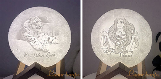 Customized Photo Luna Lamps