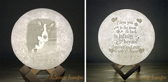 Customized Photo Moon Lamps