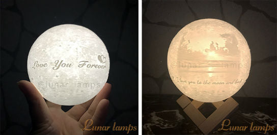 Customized Photo Moon Night Lamps