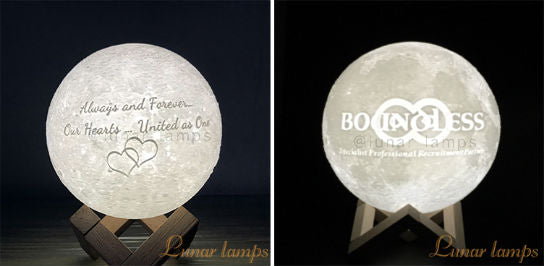 Customized Photo Text Moon Lamps