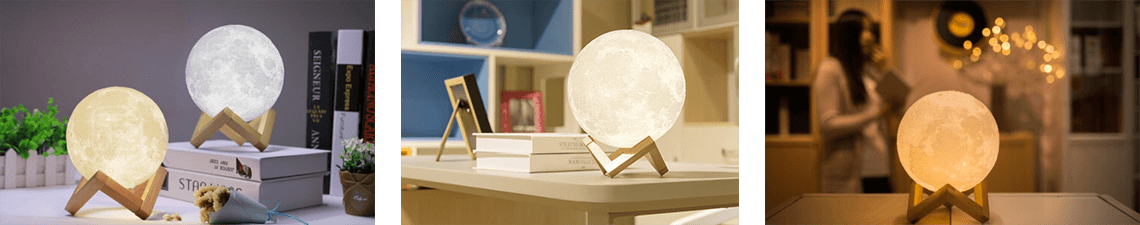 3D printed moon lamp advance - lunar lamps