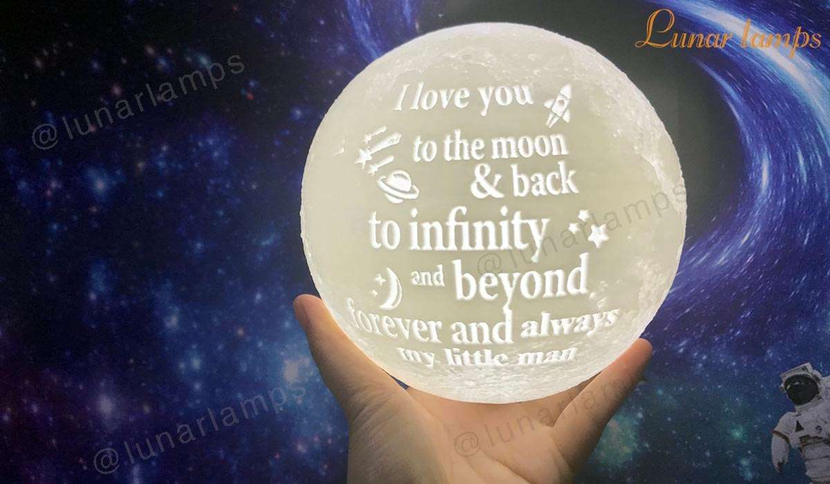 i love you to the moon and back - custom moon light