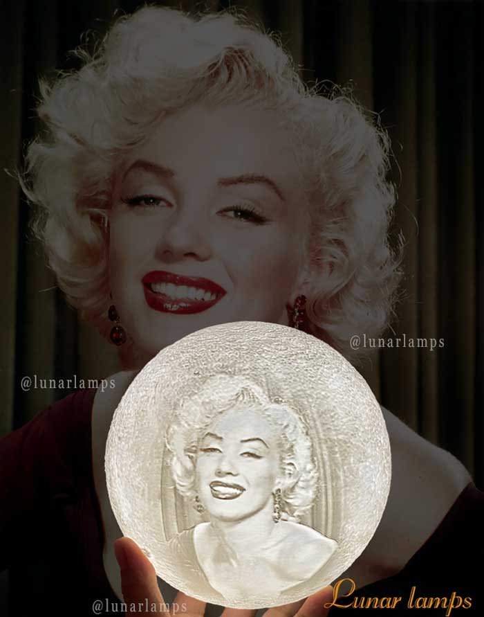 Marilyn Monroe photo moon lamp