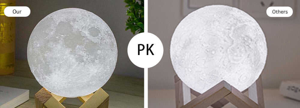 Moon lamp Pretty and Content Compared