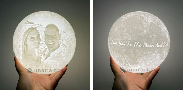 customized moon lamp with photo
