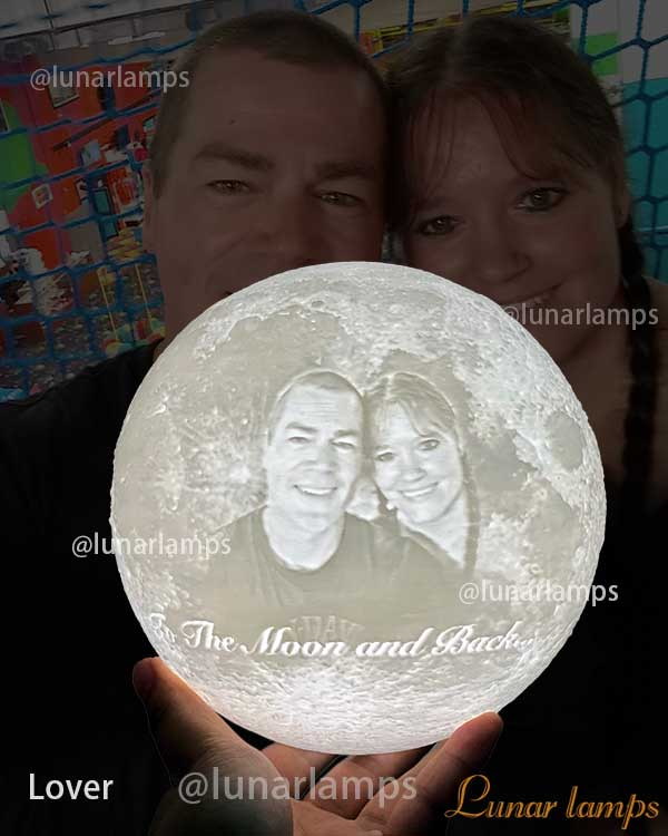 the best texture to photo moon lamp for wife