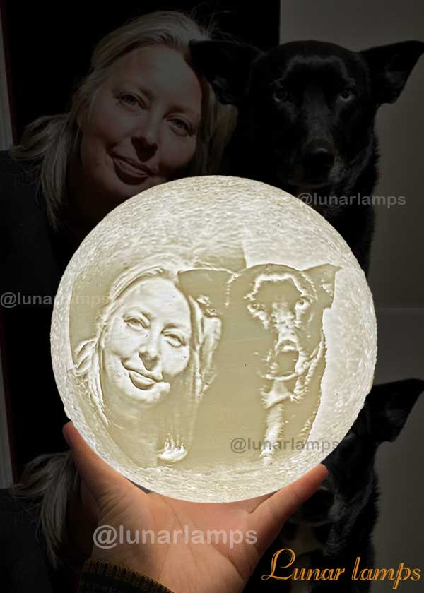 photo moon lamp for pets lover