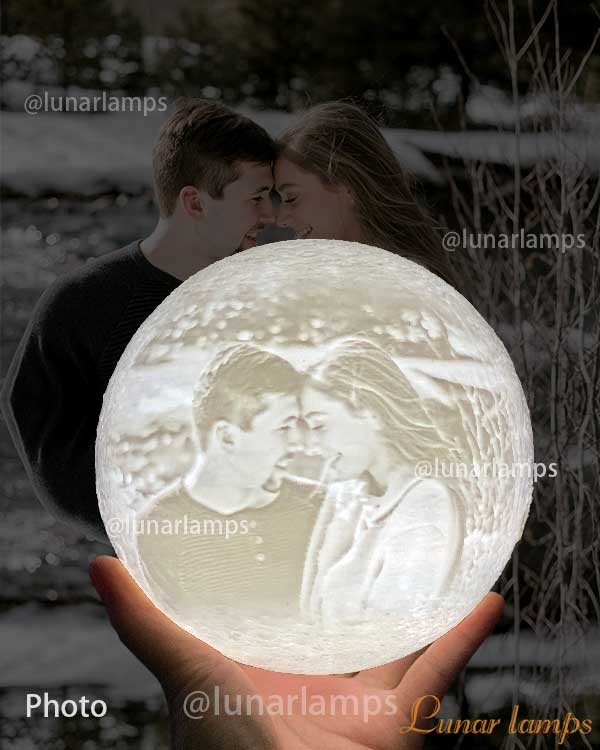photo moon lamp for wife