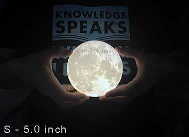 S - 5.0 inch moon lamp size