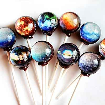 Sweet Starry Planet Lollipop