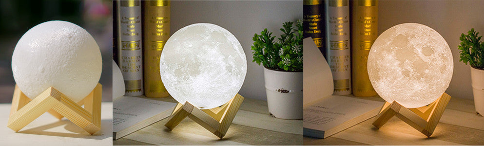 white as jade, magical moon lamp - lunar lamps