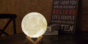 customized moon lamp banner