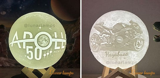 Customized Photo Moon Night Lamps logo