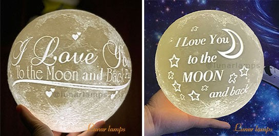 Customized Photo Text Moon Lamps text