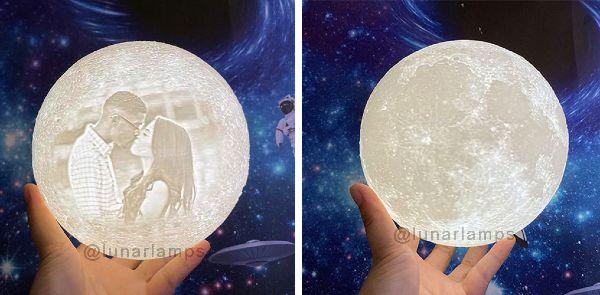 customized moon lamp with picture