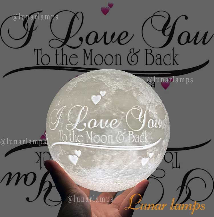 i love you to the moon lamp back design moon lamp