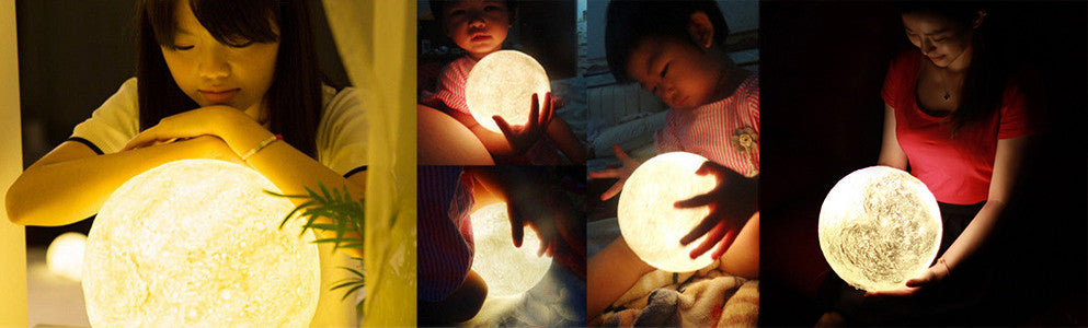 3D printing gift - moon lamp for kids - lunar lamps