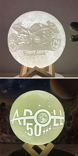 customized Moon Lamp with logo and patter